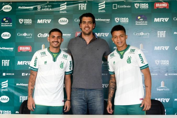 Apresentação do atacante Rafael Bilu e do lateral Diego Ferreira.